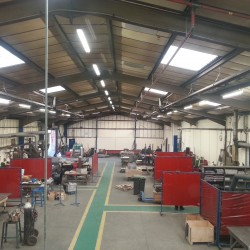 This is our metal fabrication workshop after refurbishment.